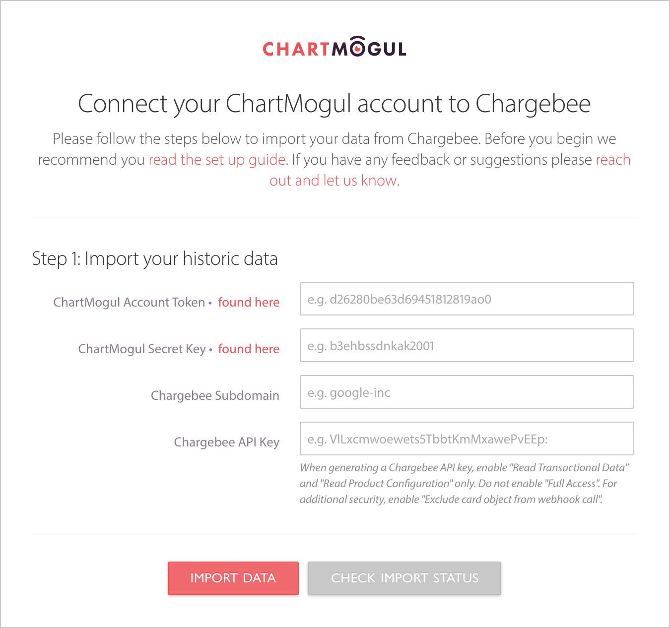 How To Connect Chargebee To Chartmogul You Will Need To Be An Admin To  Plete The